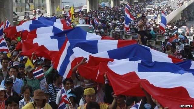 Anti-government protesters in Thailand