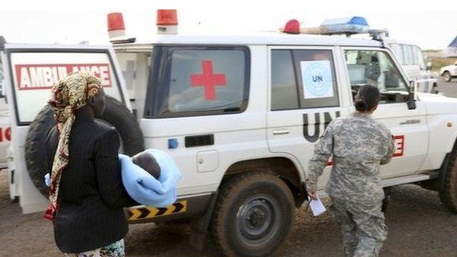 Photo released by the United Nations Mission in South Sudan (UNMISS),
