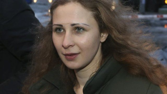 Maria Alyokhina, member of Russian punk band Pussy Riot