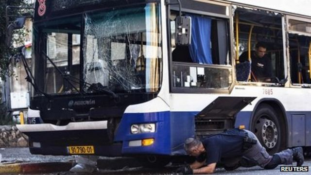 Israel police search for bus bombing suspects