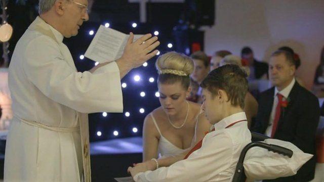 Felix and Cola Glenny's wedding