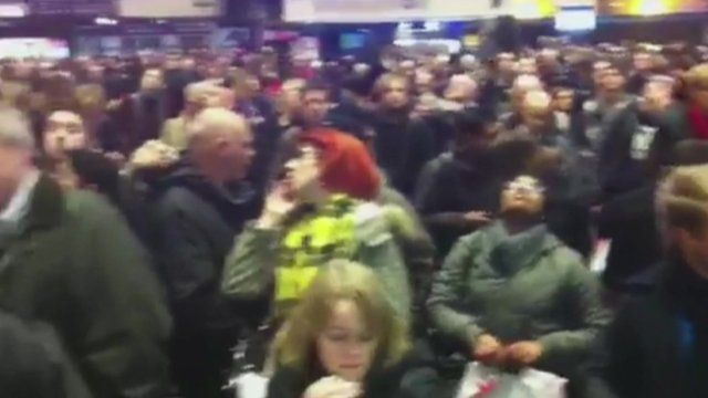 Crowds at Euston station in London
