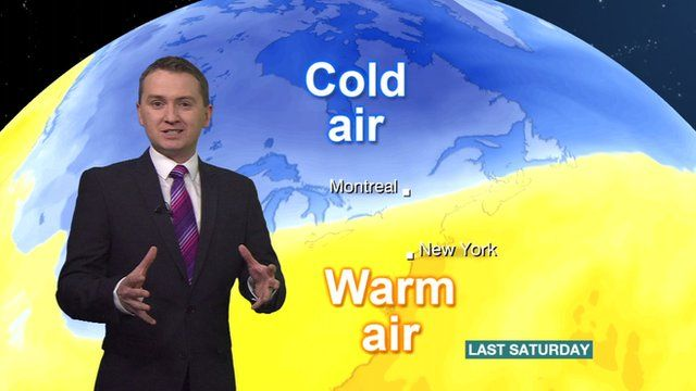 Clashing Air Masses Create North American Ice Storm BBC News - Nyc bbc weather