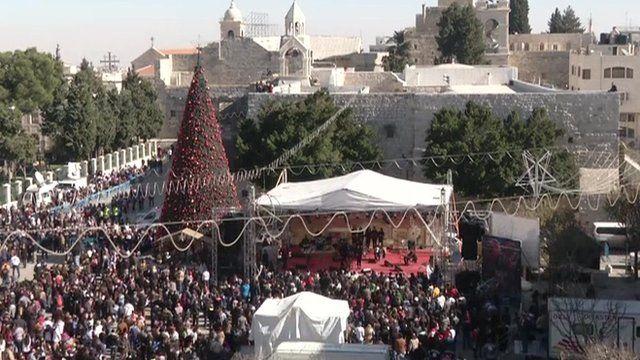 Manger Square in Bethlehem