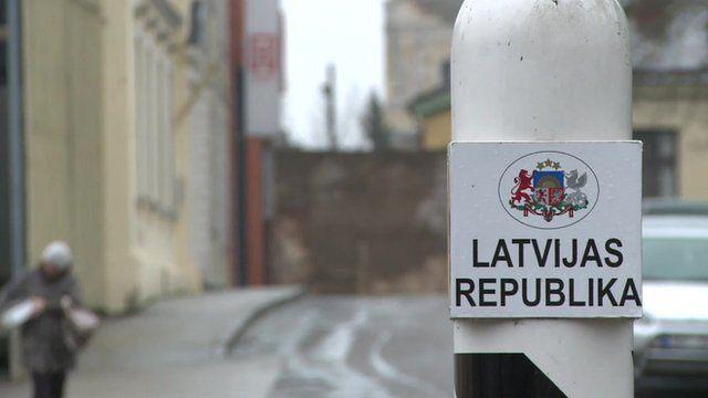 Latvian border post