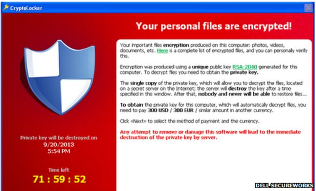 Cryptolocker ransomware has 'infected about 250,000 PCs'