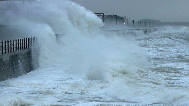 Stormy sea off the coast of Scotland