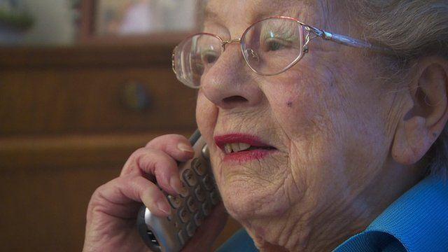 Dorothy Masters on telephone