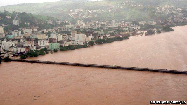 Doce River in Vitoria, Espirito Santo state