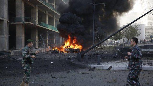 Scene after Beirut blast