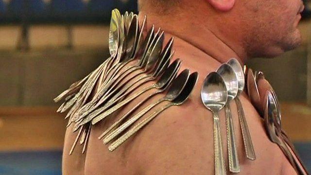 Etibar Elchev with spoons