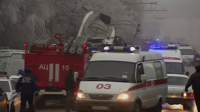 Emergency services after Volgograd bus bomb