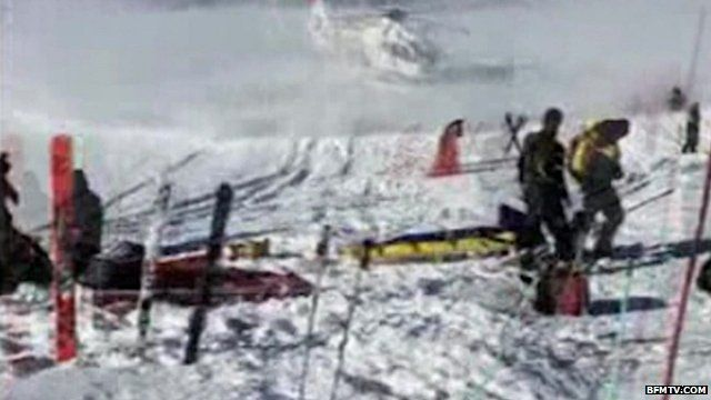 Footage said to show Schumacher being airlifted off mountain