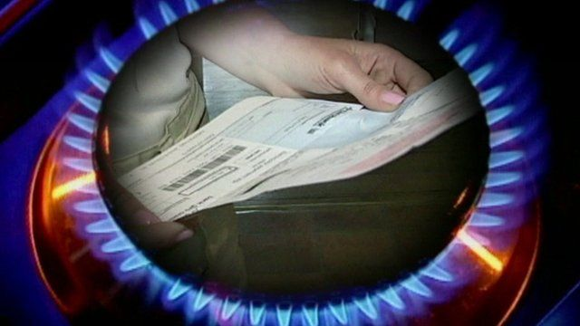 Graphic showing gas ring and energy bill