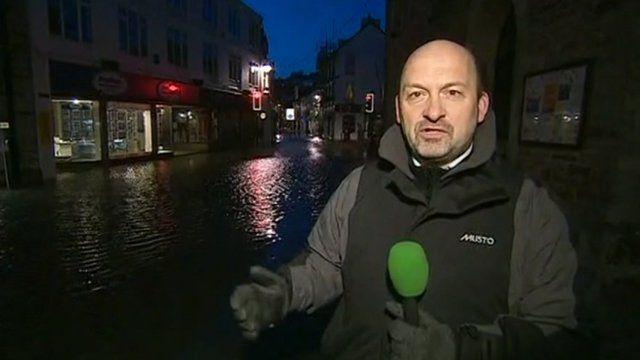 BBC reporter in Looe