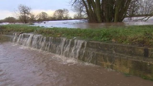 River Severn bursting its banks
