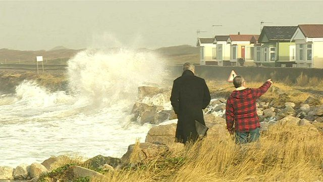 Residents watch sea levels rise at Walney Island