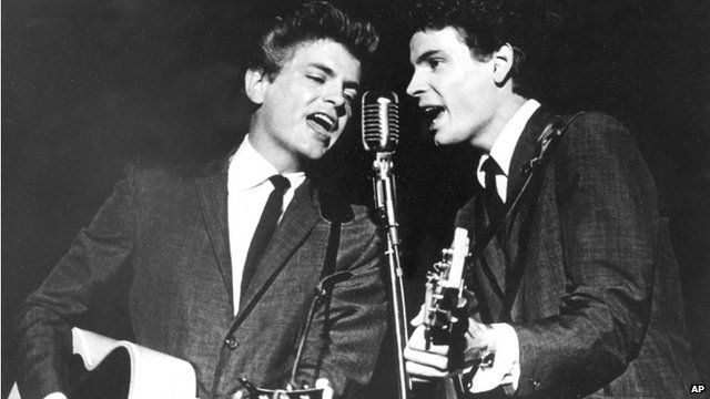 File photograph of the Everly Brothers performing