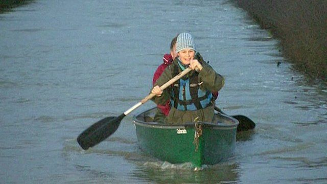 David and Tracey Bradley in Canoe
