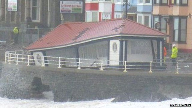 Seafront shelter in Aberystwyth