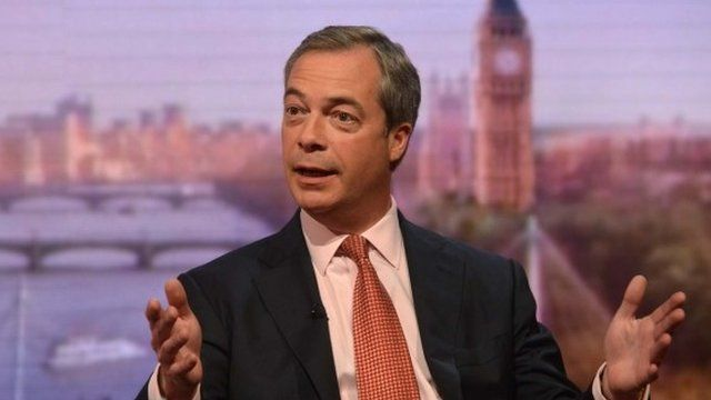 UKIP leader Nigel Farage on The Andrew Marr Show