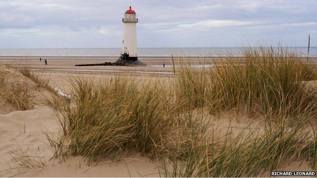 Talacre beach, sand dunes and lighthouse (Pic: Richard Leonard)