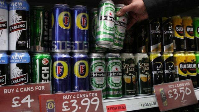 Cheap alcohol for sale in an off licence