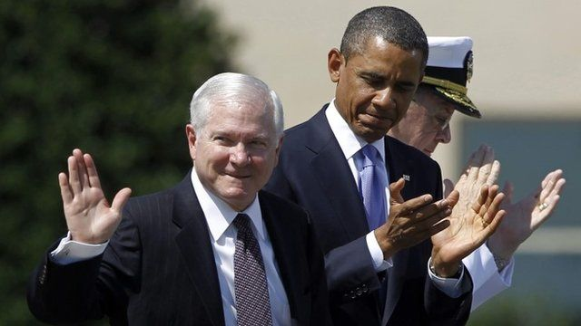 Robert Gates and President Barack Obama