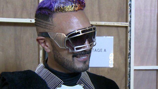 Man at fashion week