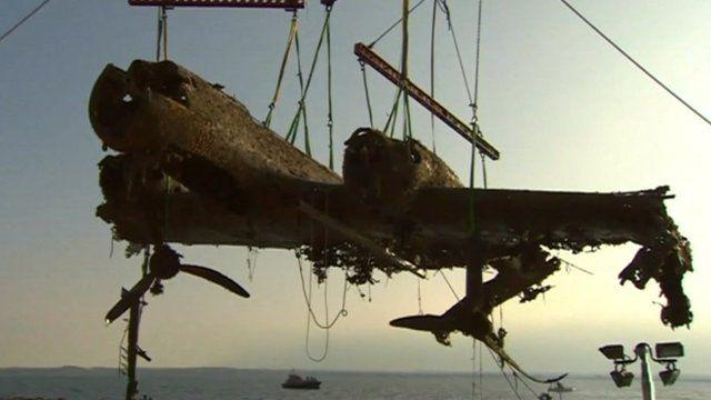 Wreck of Dornier bomber