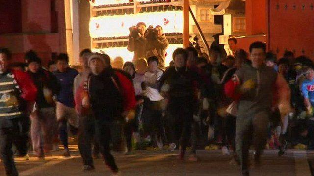 Racers in the Nishinomiya Shrine