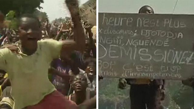 Celebrations and protests in CAR
