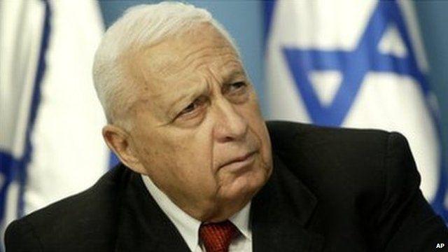 Ariel Sharon file pic 2004