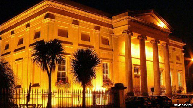 Swansea museum beautifully illuminated at night (Mike Davies).