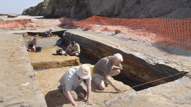 A dig at Happisburgh in Norfolk