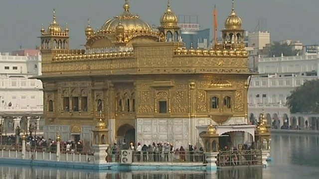 The Golden Temple in Amritsar