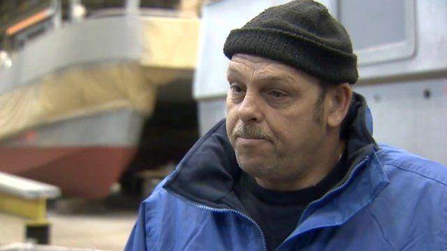 Boat skipper Mick Latham