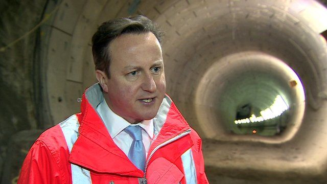 David Cameron, speaking on a visit to Crossrail in central London