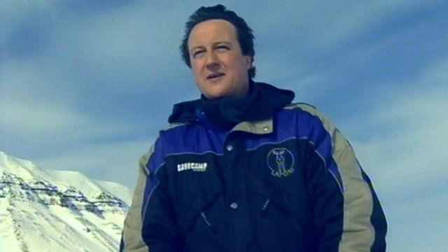 David Cameron in the Arctic