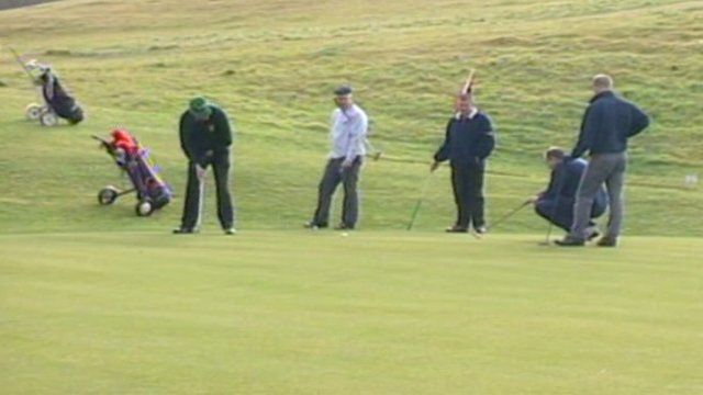 Golf players at Garnant Golf Club