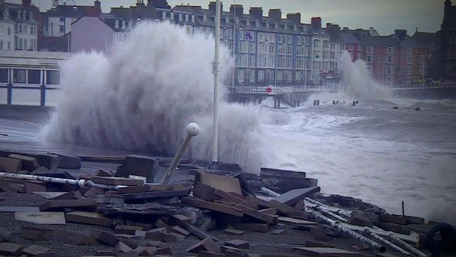 Coastal towns were battered in recent storms