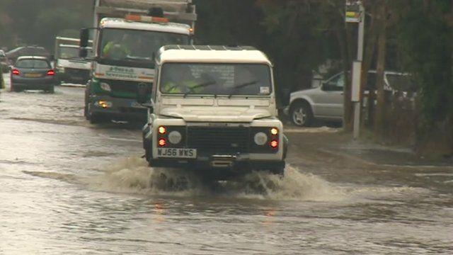Flooding in Sundridge, Kent