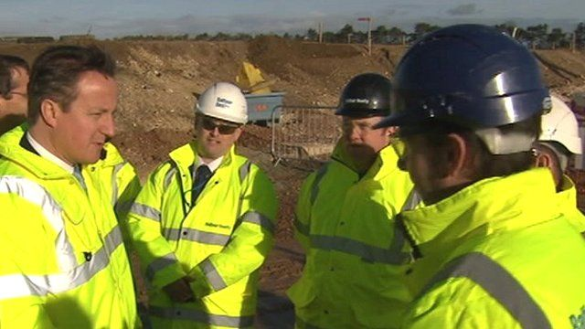David Cameron at A11 dualling project