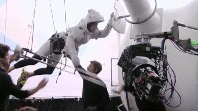 Scene from the film Gravity