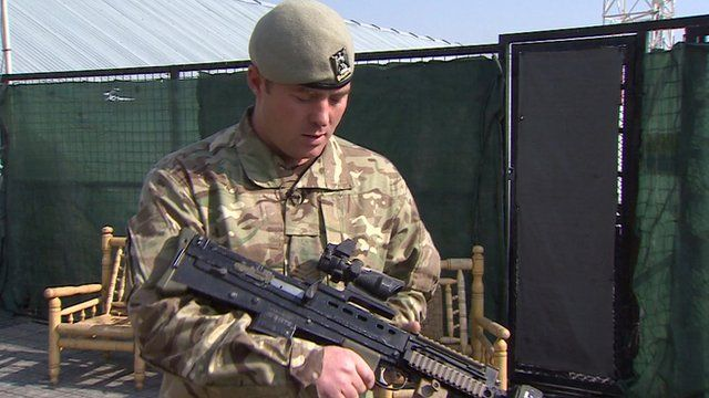 Staff Sergeant Nick Brown of the Royal Scots Dragoon Guards