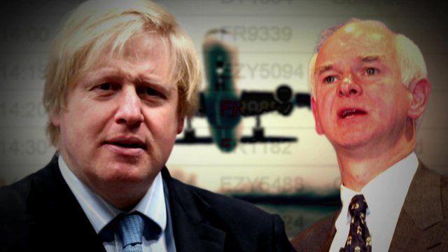 Boris Johnson and Sir Howard Davies