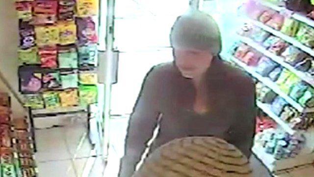 Joanne Dennehy on shop CCTV