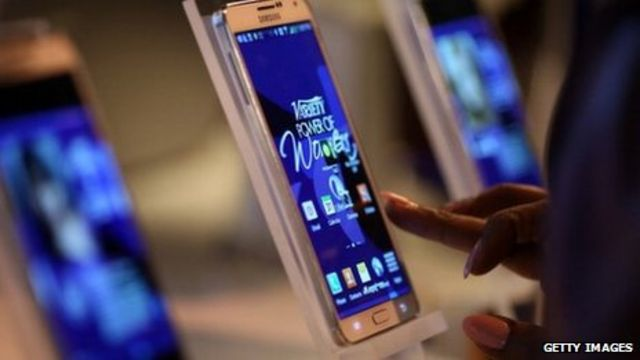 Samsung's mobile phone sales decline