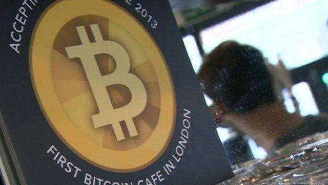 Cafe Bitcoin sign