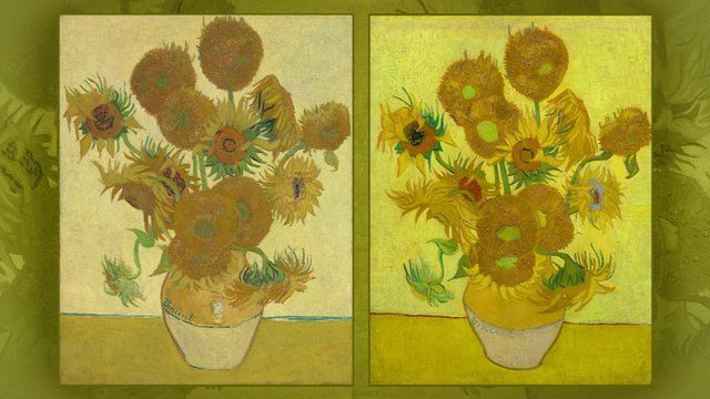 Media Player Van Goghs Sunflowers The One Of Left Is Usually Shown In London